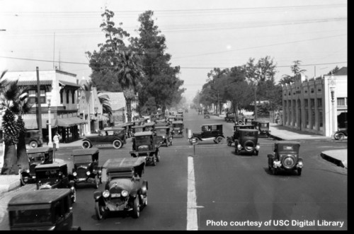 Intersection of Figueroa and Jefferson, 1924